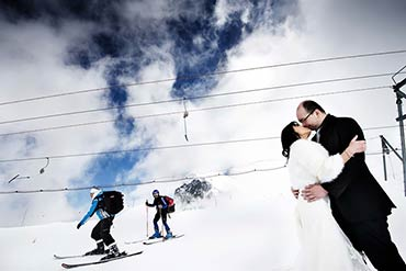 legal civil ceremony on Top of Mont Blanc