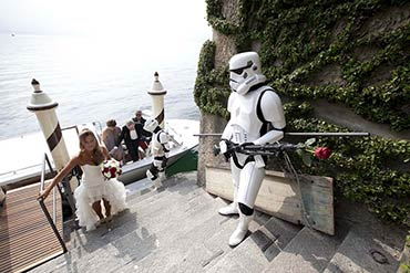 Star wars theme for your wedding on lake Como