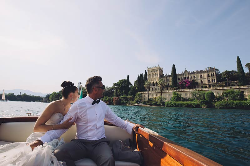 summer wedding on Isola del Garda