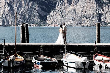 Summer wedding on Lake Garda