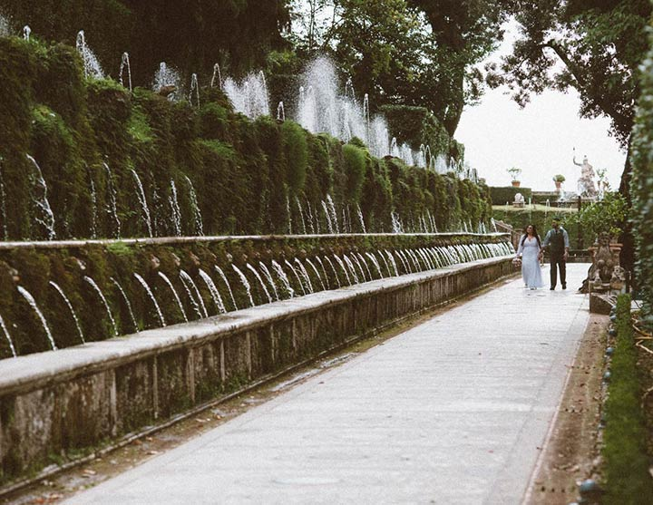 Romantic elopement in Tivoli Rome