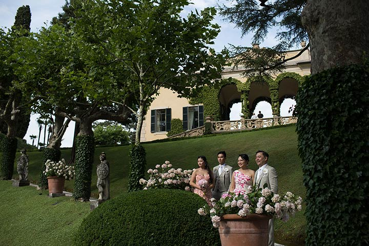 vow renewal on Lake Como