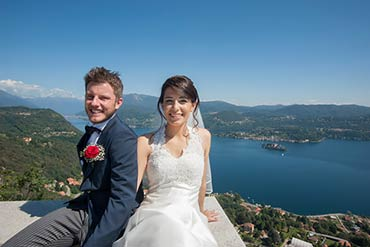 Wedding with a breathtaking view over Lake Orta and Lake Maggiore