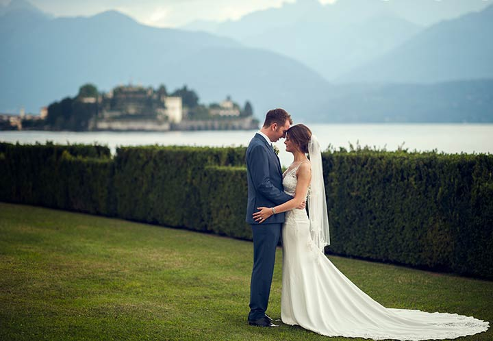 wedding in Stresa on Lake Maggiore shores