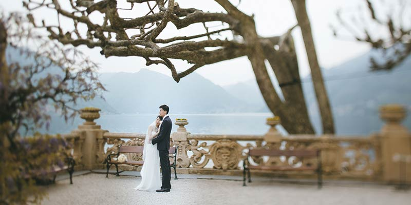 elopement to Lake Como Italy