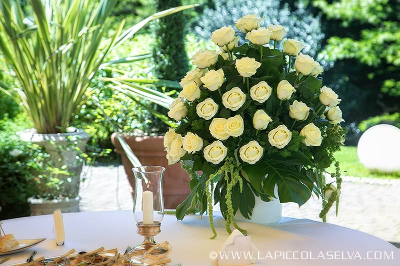 wedding flowers Villa Crespi lake Orta