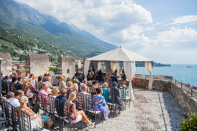 civil wedding at Malcesine Castle