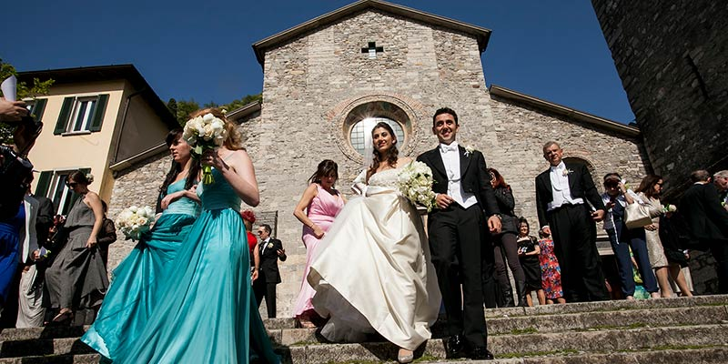 catholic ceremony lake Como