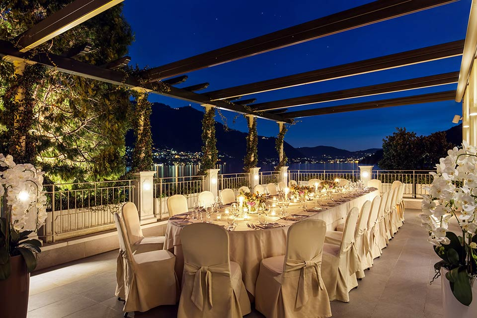 wedding reception Grand Hotel Imperiale Moltrasio lake Como