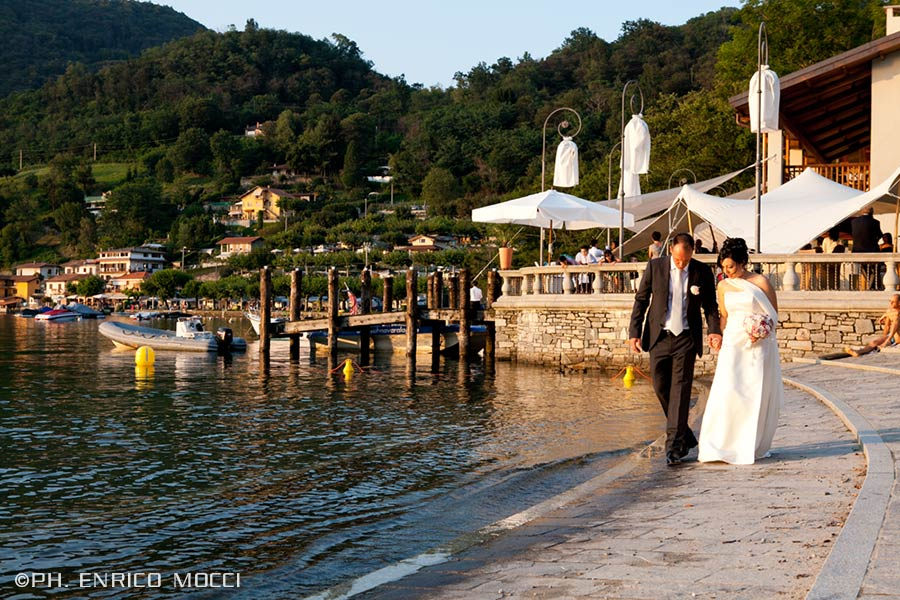 wedding reception Restaurant Luci sul Lago lake Orta