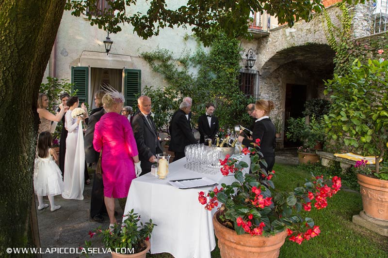 wedding reception at Palazzo Gemelli Lake Orta