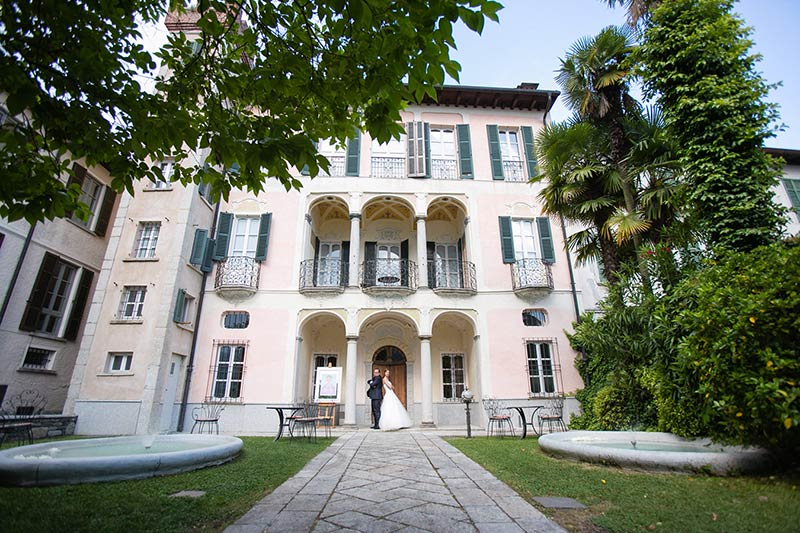 Restaurant Hotel San Rocco wedding reception Lake Orta