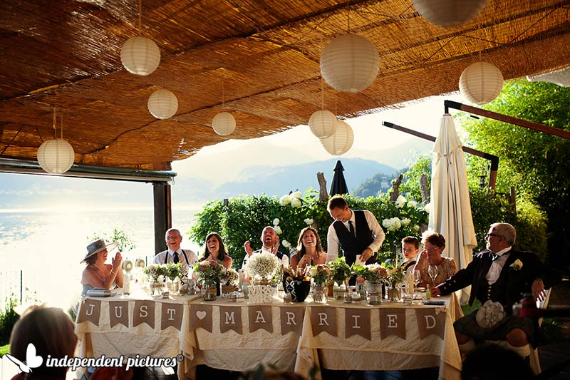 wedding reception USTARIA CA DAL RAT lake Orta