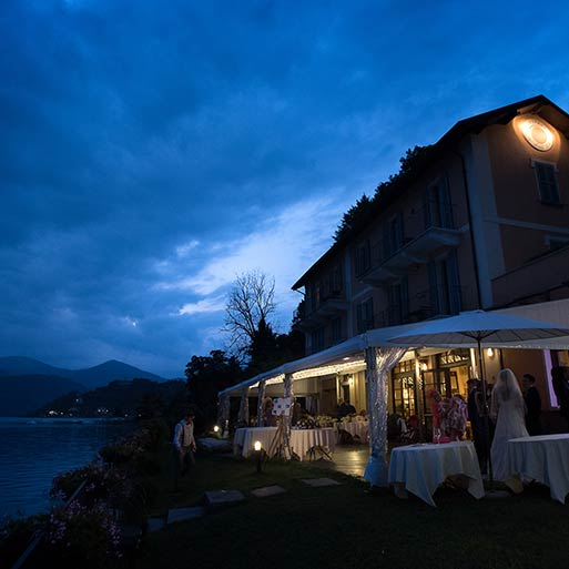 wedding at L'USTARIA CA DAL RAT lake Orta
