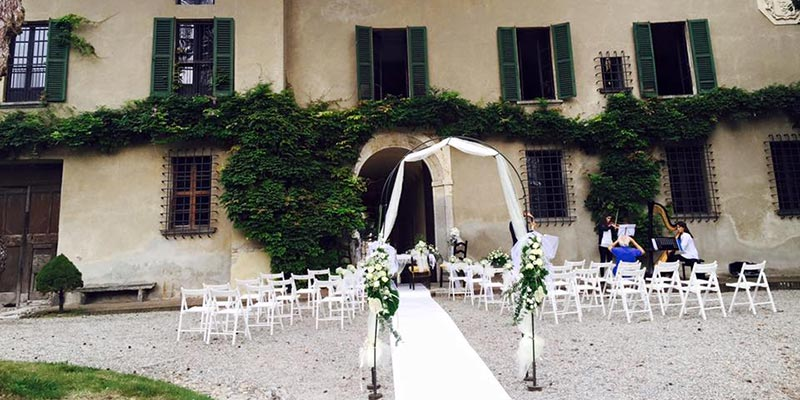 civil wedding ceremony VISCONTI CASTLE Lake Maggiore
