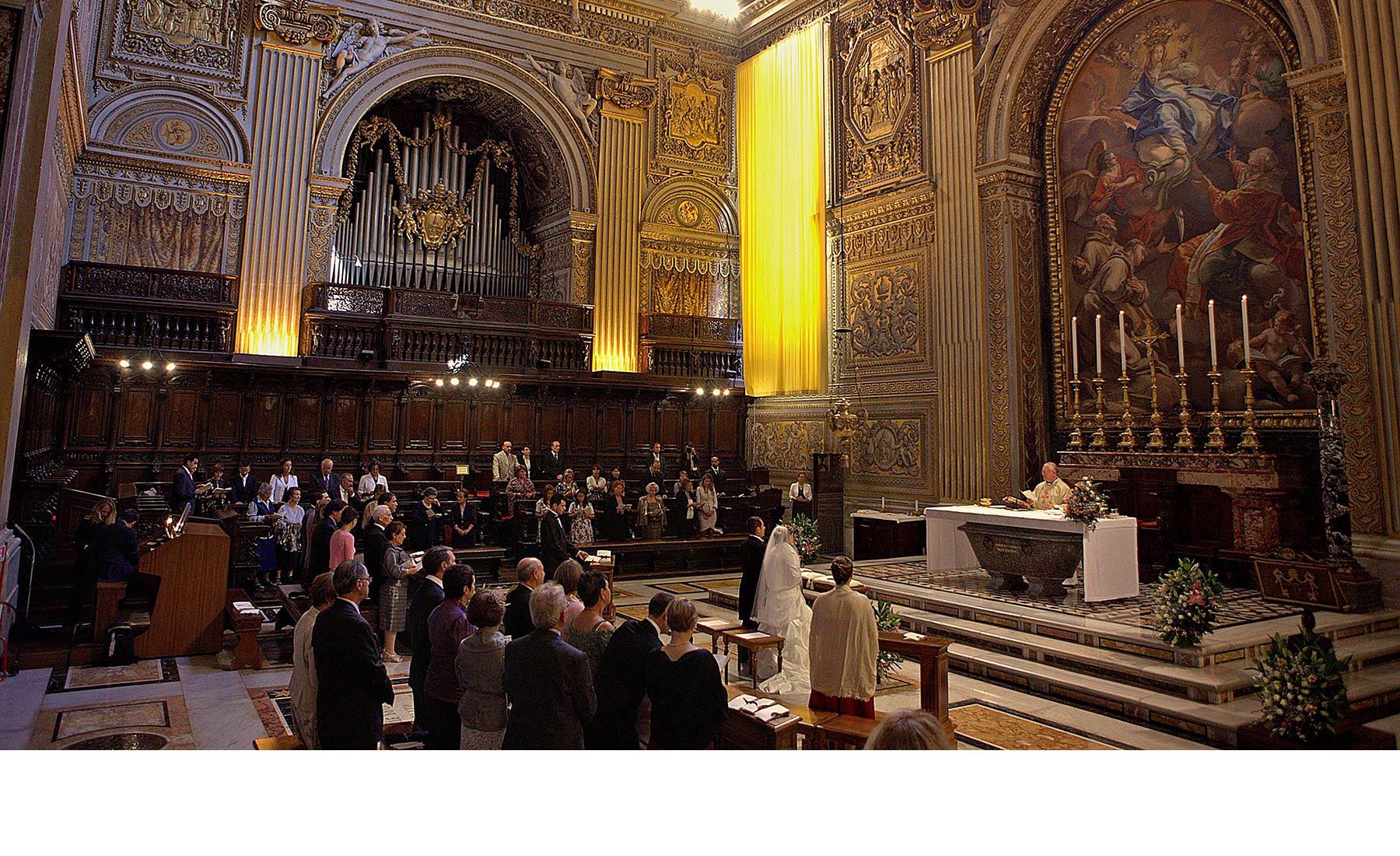 Rome catholic wedding